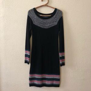 Athleta Fair Isle Sweater Dress XS